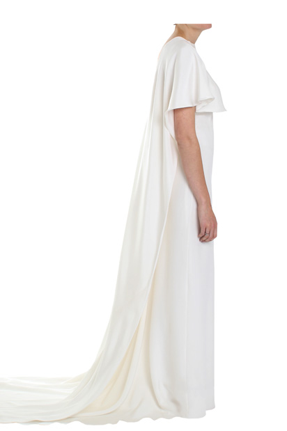 Sixties Vintage inspired Long Bridal Cape