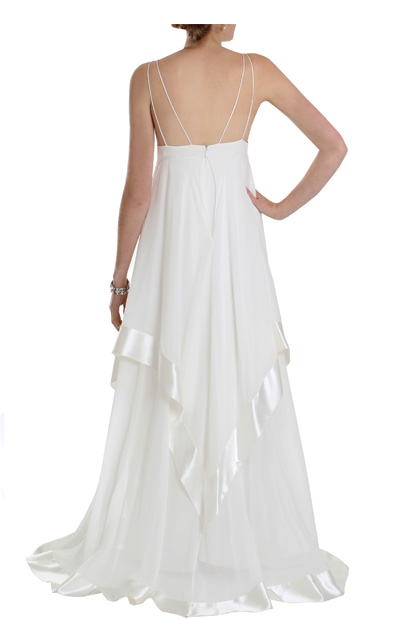 Seventies Style Empire-line Wedding Dress