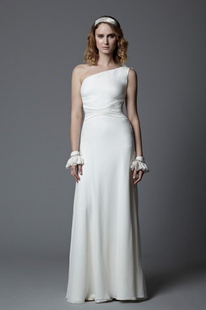 One shoulder wedding dress Gabrielle